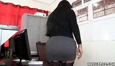 Busty Cielo Working at Office #4703